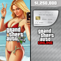 Grand Theft Auto V & Great White Shark Cash Card Bundle for PS3