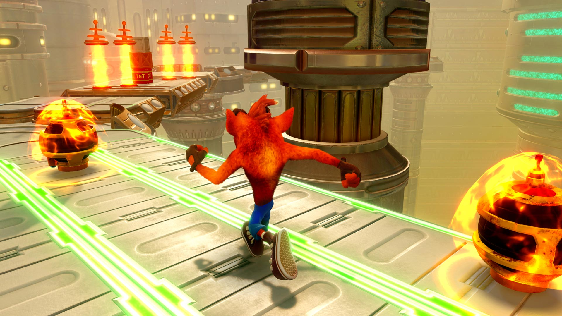 Скриншот №1 к Crash Bandicoot N. Sane Trilogy - эпизод Future Tense