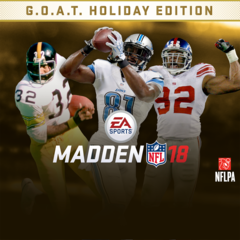 MADDEN NFL 18 : G.O.A.T. Holiday Edition