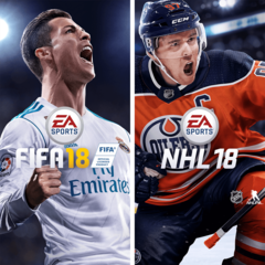 Lot EA SPORTS FIFA 18 et NHL 18