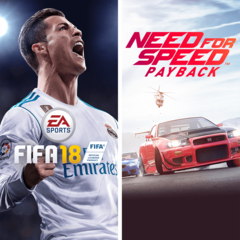 Lot EA SPORTS FIFA 18 et Need for Speed Payback