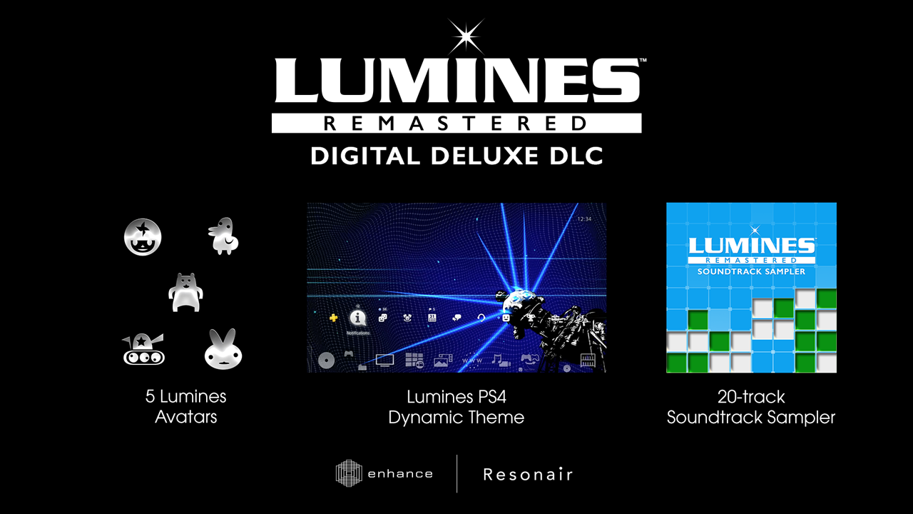 LUMINES REMASTERED DIGITAL DELUXE DLC BUNDLE скриншот 1