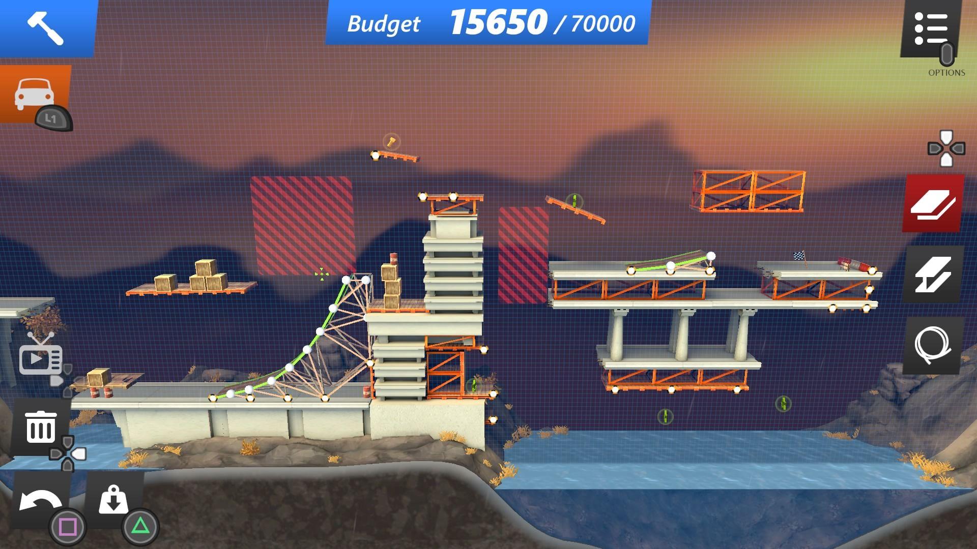 Скриншот №2 к Bridge Constructor Stunts