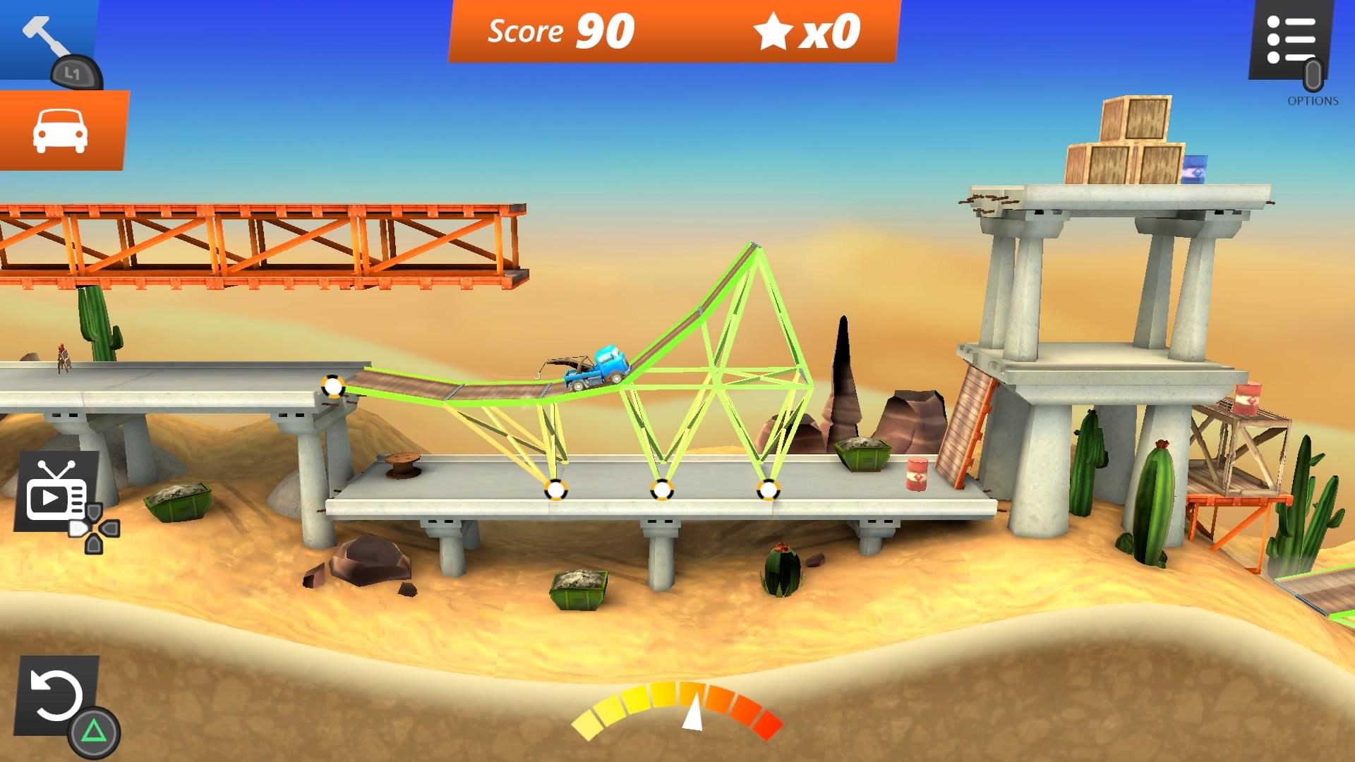 Скриншот №1 к Bridge Constructor Stunts