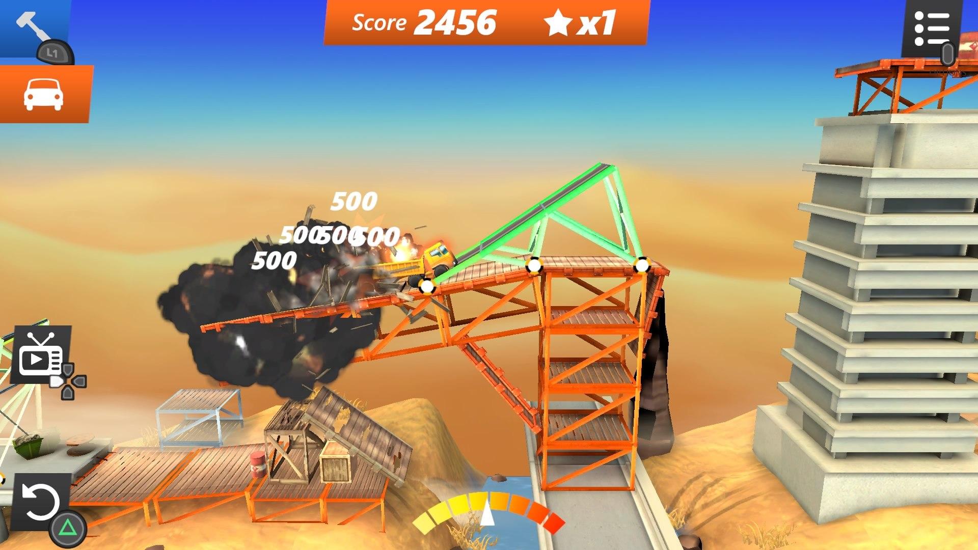 Скриншот №4 к Bridge Constructor Stunts