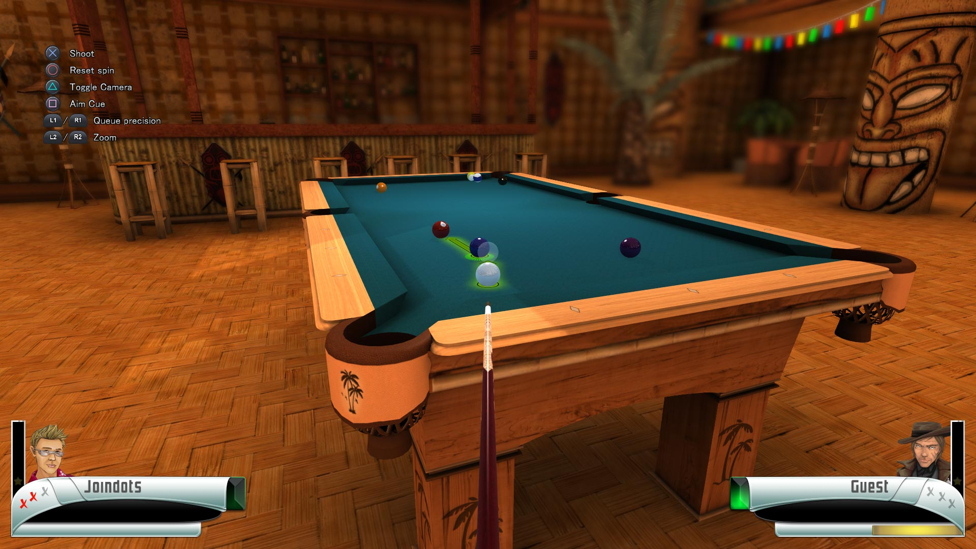Скриншот №1 к 3D Billiards - Pool and Snooker