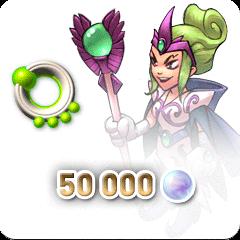 Rainbow Moon 50 000 Rainbow Pearls (Serena) + Pearl Ring