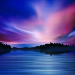 XPOSED - Purple Sky - Northern Lights Dynamic Theme