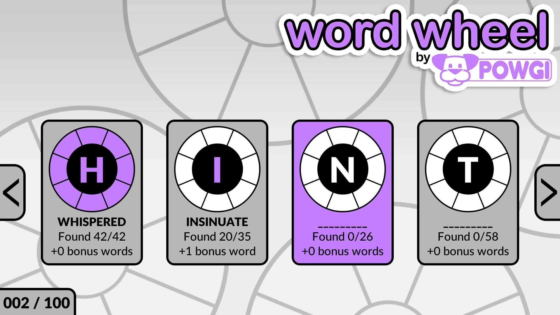 Скриншот №3 к Word Wheel by POWGI