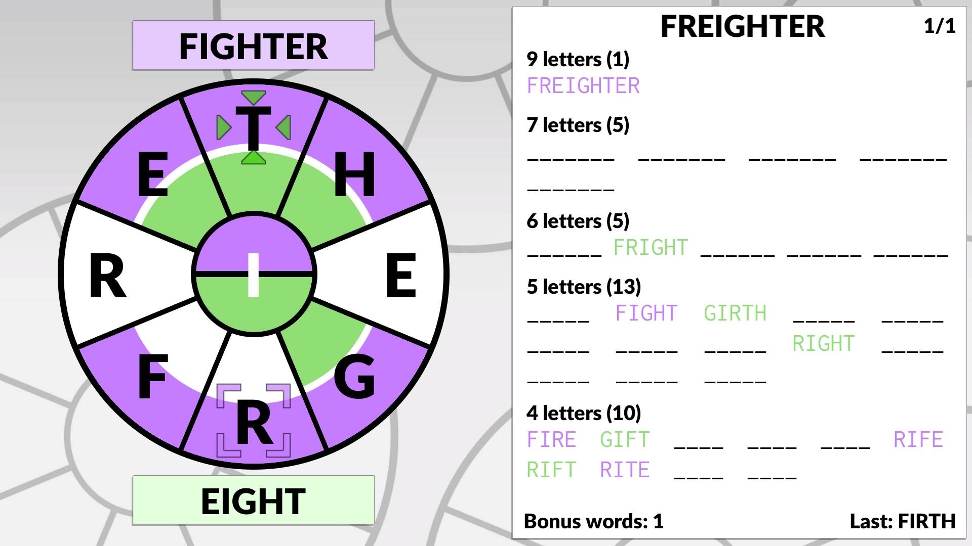 Скриншот №2 к Word Wheel by POWGI
