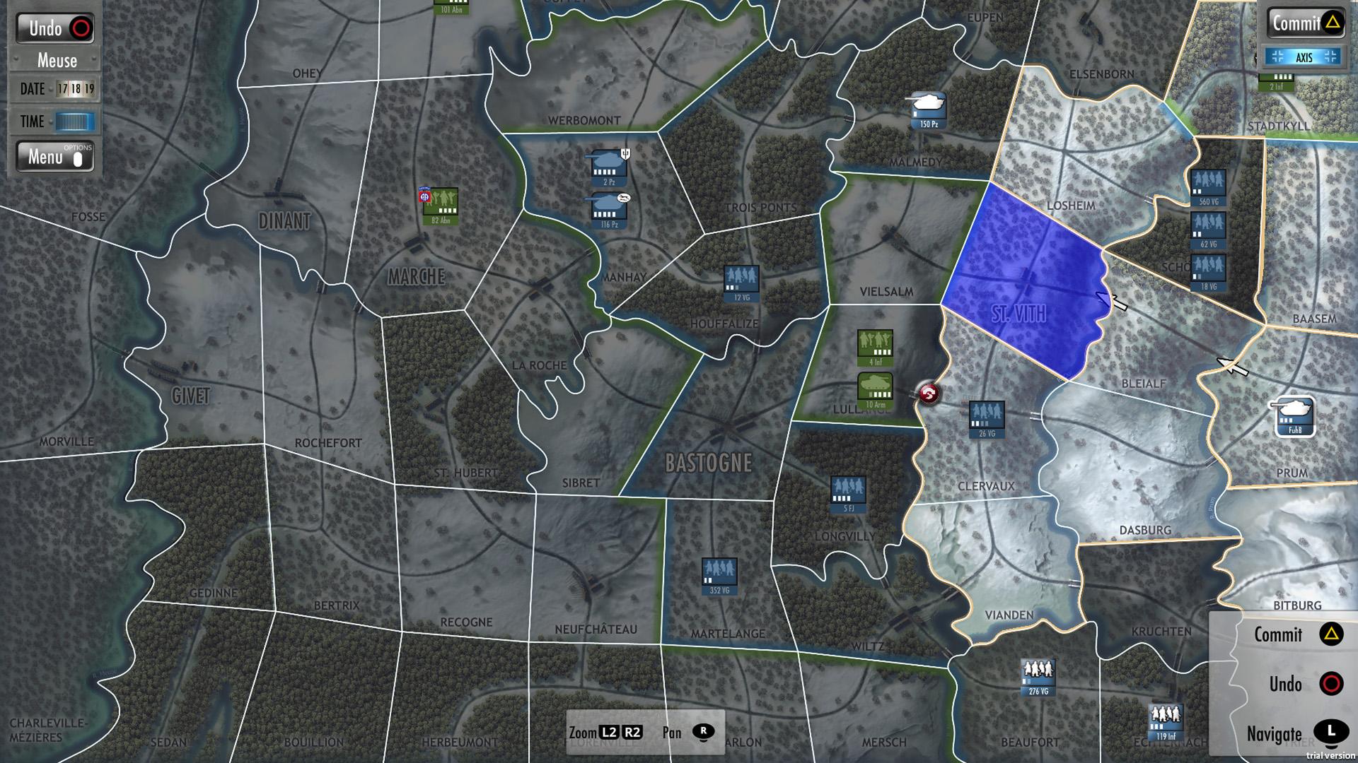 Скриншот №1 к Battle of the Bulge