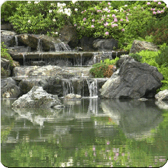 A Zen Waterfall Dynamic Theme
