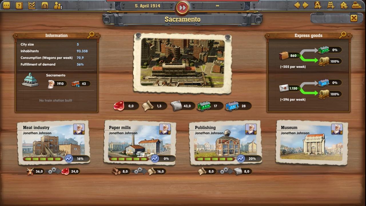 Скриншот №4 к Railway Empire - Complete Collection
