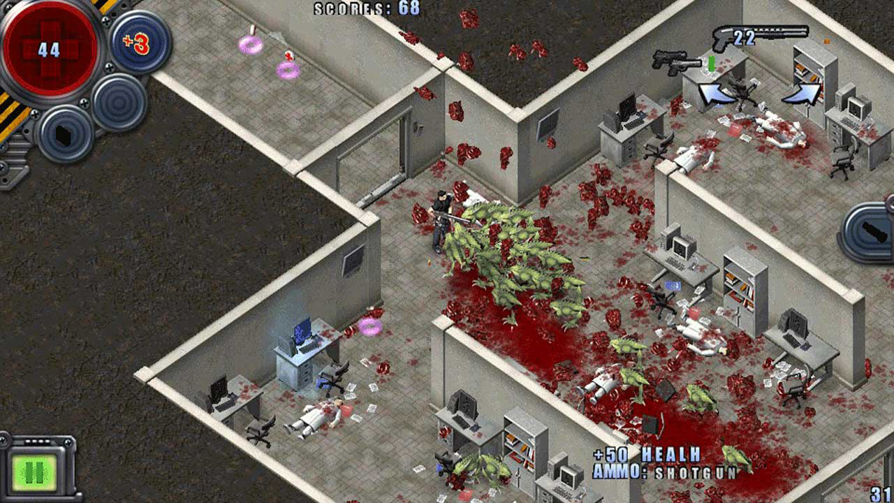Скриншот №2 к Alien Shooter