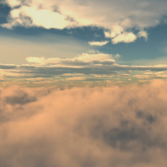 Flying Through Clouds Dynamic Theme