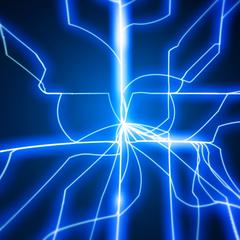 1 blå elektriske lys dynamisk tema