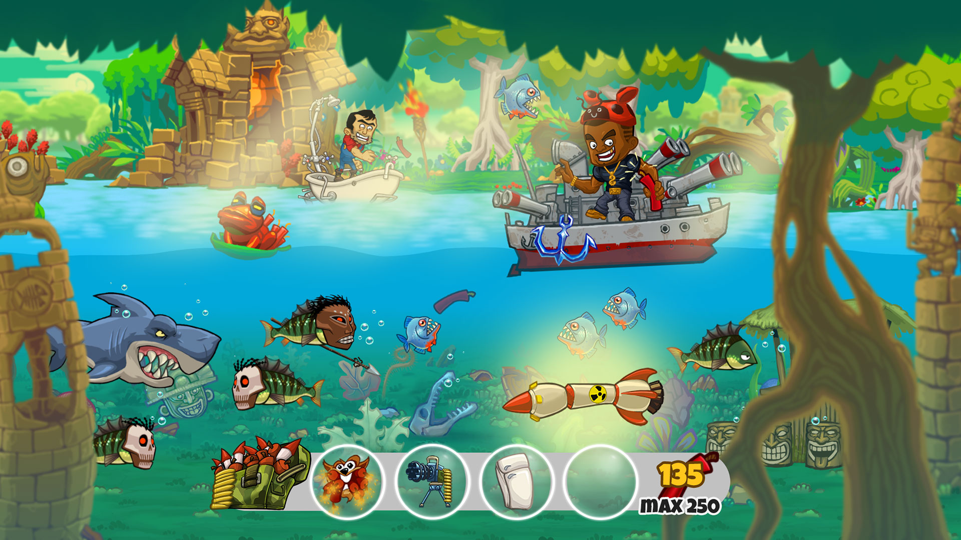 Dynamite fishing world games on ps4 official for Fish world game