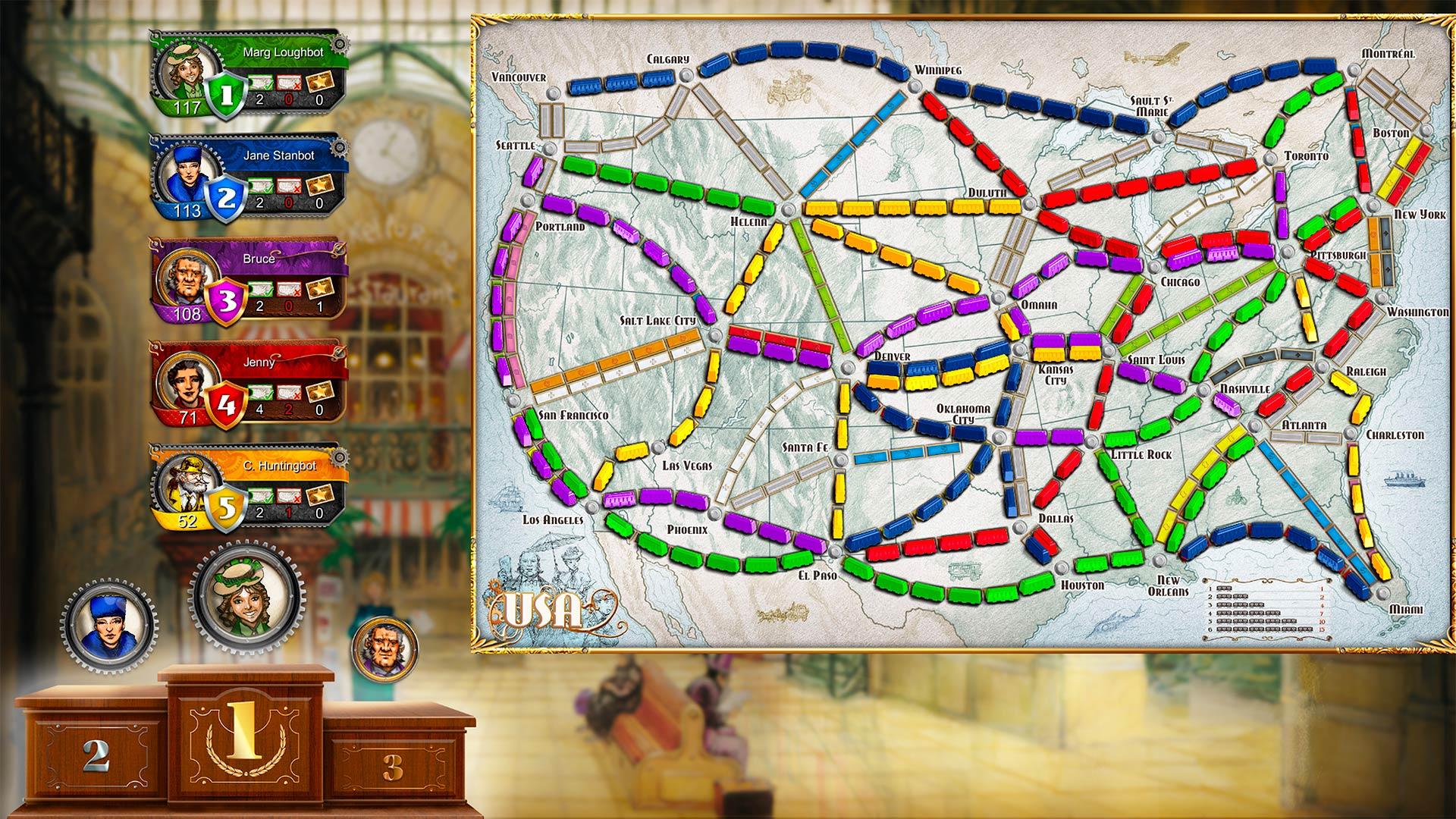 Скриншот №2 к Ticket To Ride