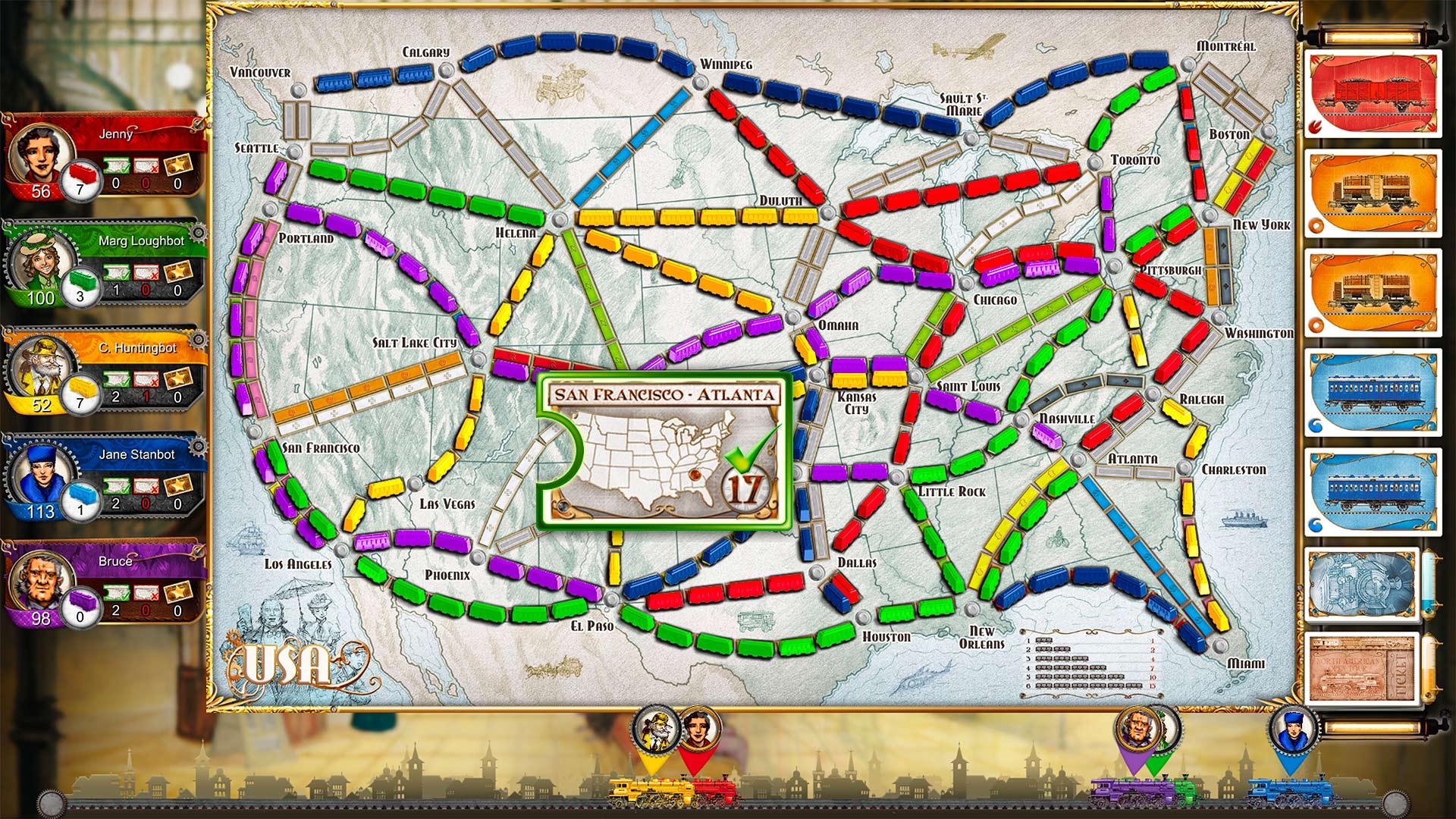 Скриншот №4 к Ticket To Ride