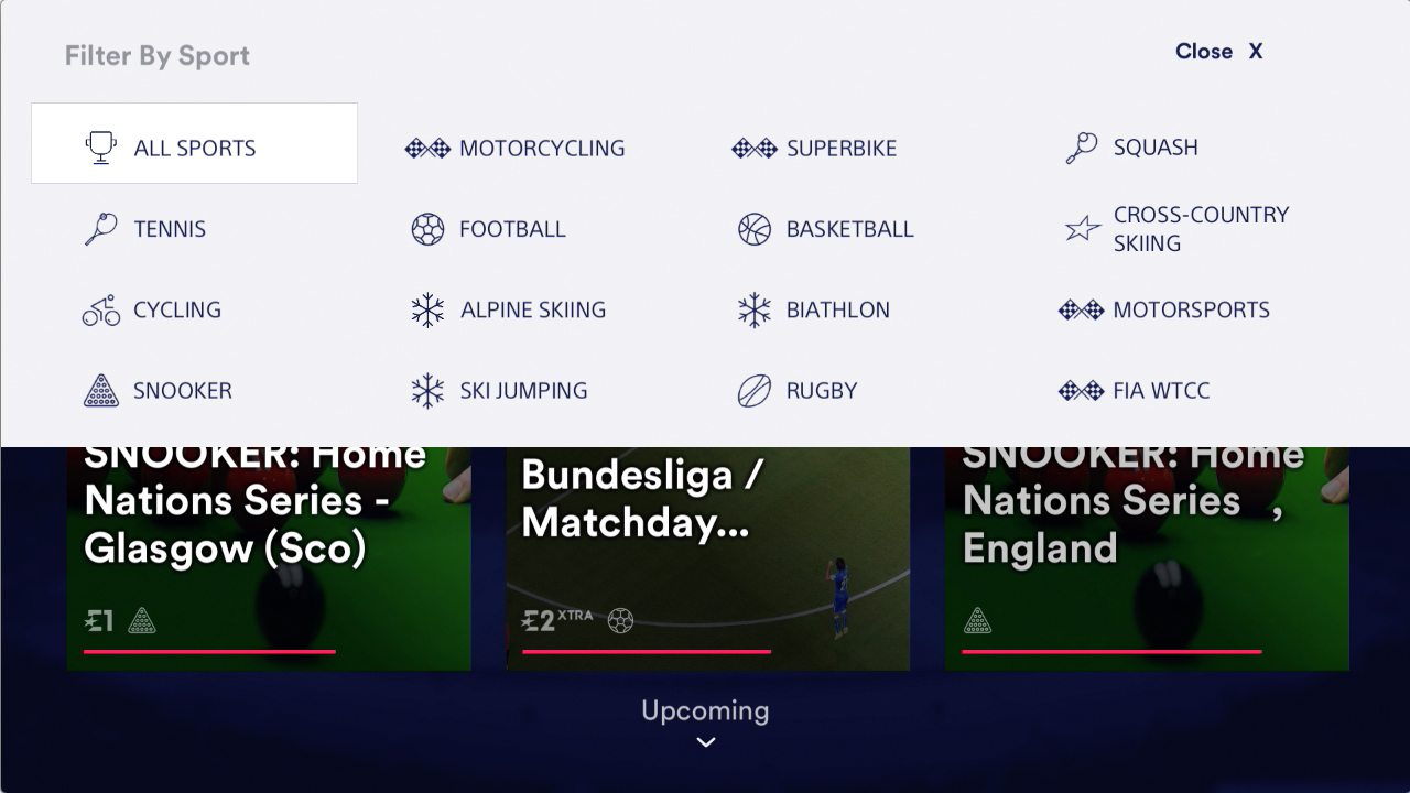PS Store Eurosport player