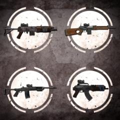 Набор оружия с оптическим прицелом
