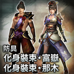 "Armor: ""Fugaku costume (male)"" and ""Nagi costume (female)"""