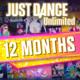 Just Dance Unlimited - passe de 12 meses