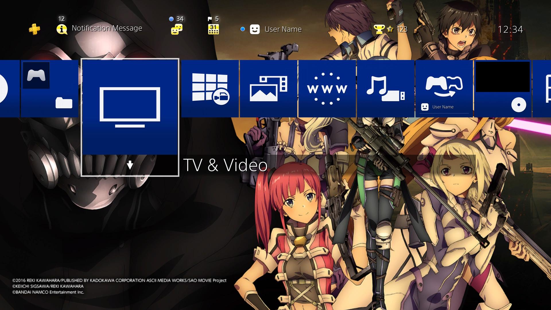 Bandai Namco oferece temas gratuitos de PS4 de Ace Combat 7
