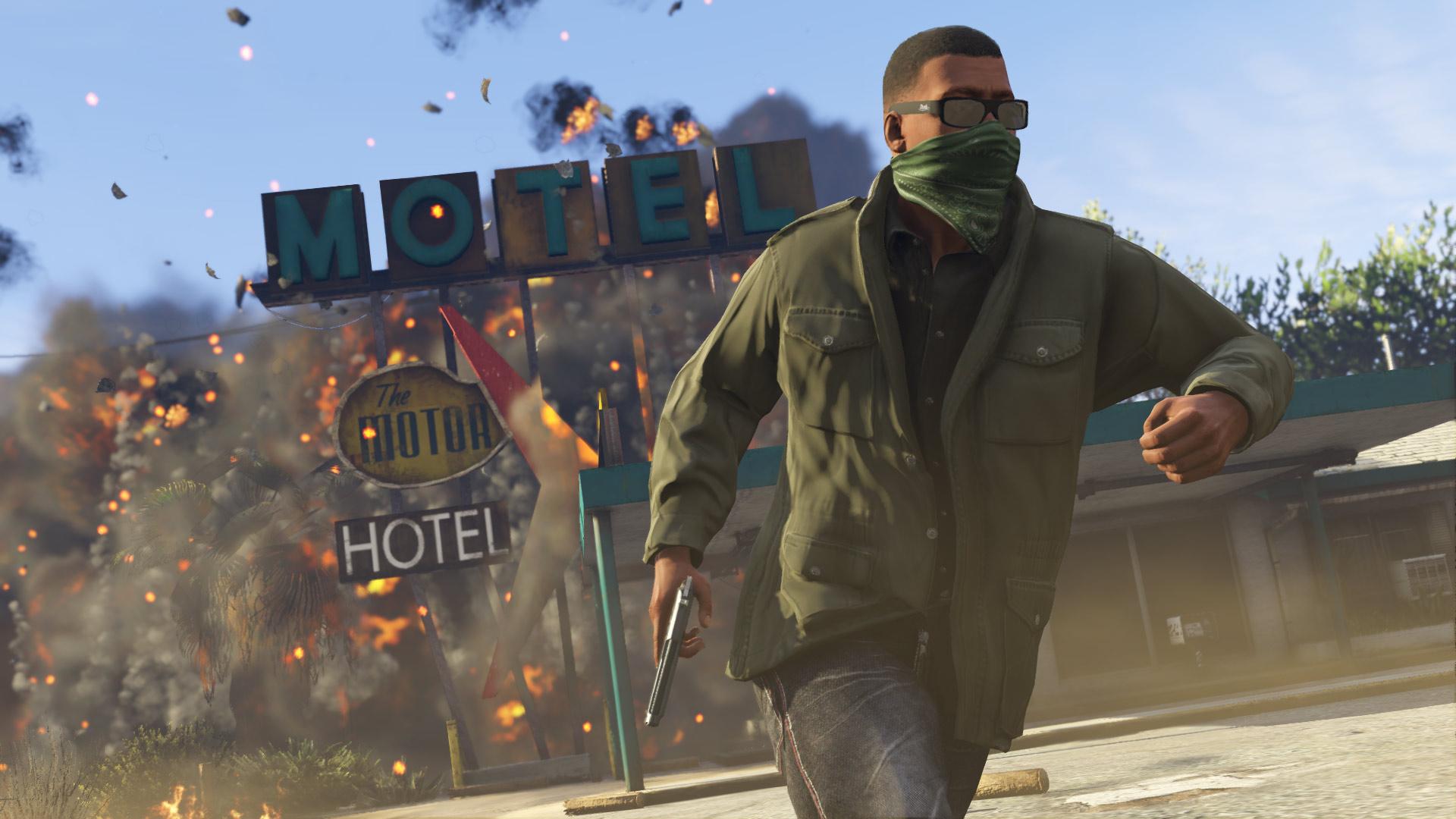 Banner do game Grand Theft Auto V para PS4