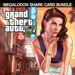 Grand Theft Auto V & Megalodon Shark Cash Card Bundle