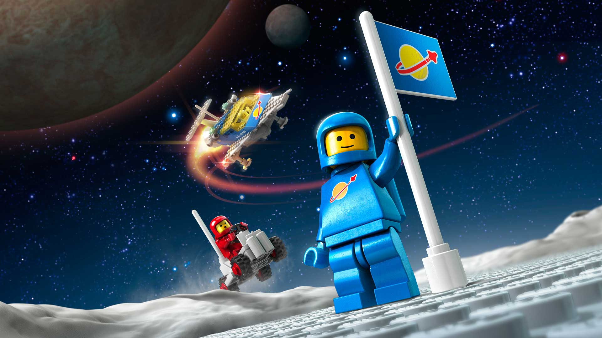 lego® worlds - classic space pack and monsters pack bundle on ps4