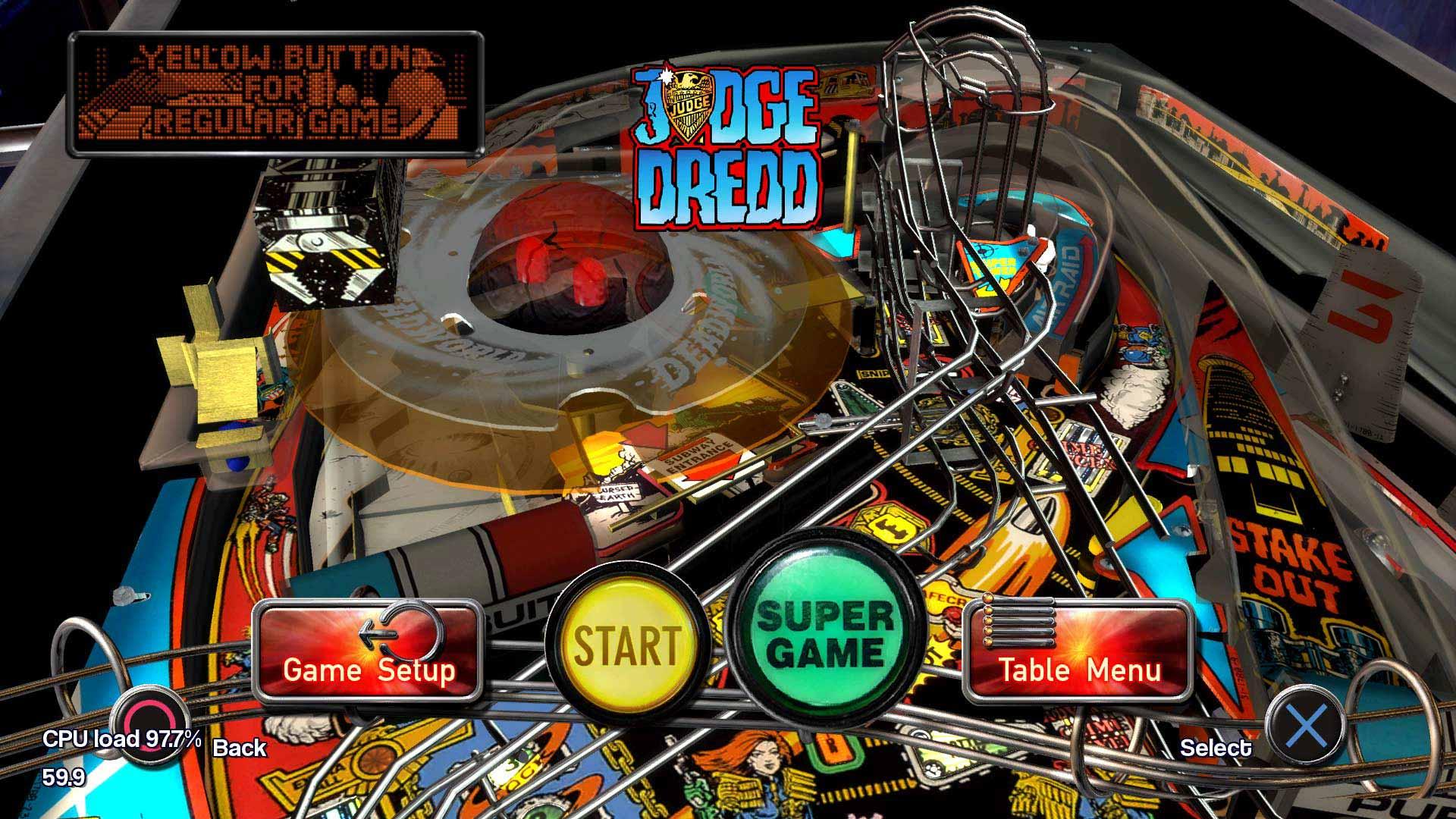 Pinball arcade conjunto de mesa profesional judge dredd for Pinball de mesa