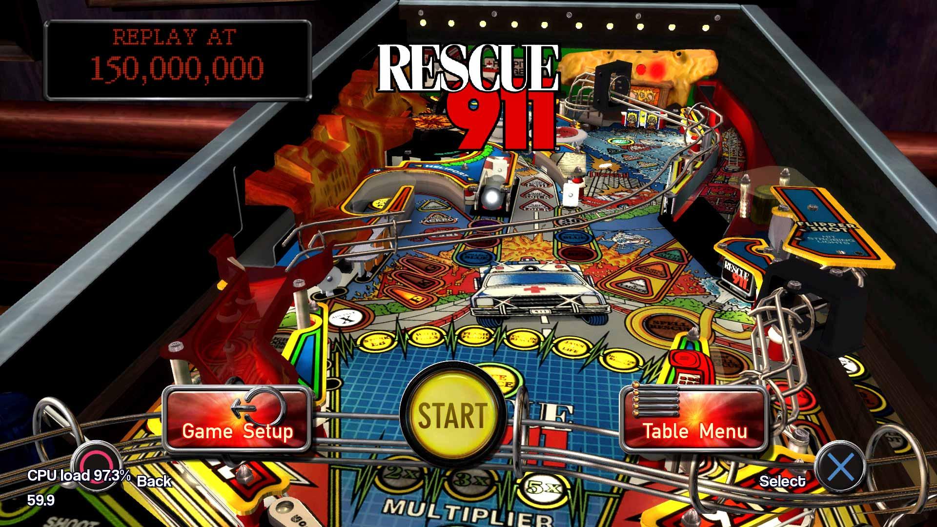 Pinball arcade conjunto de mesa profesional rescue 911 for Pinball de mesa