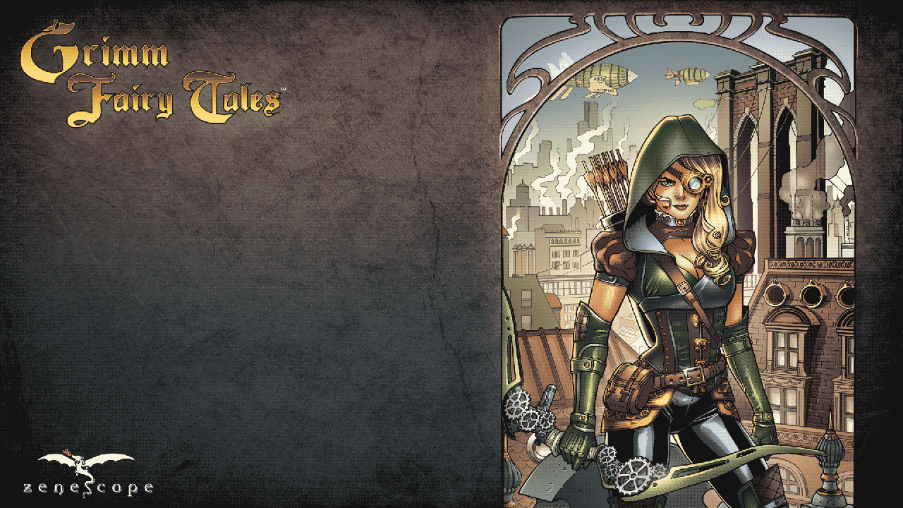 zenescope entertainment gft steampunk huntress theme