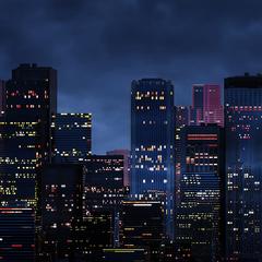 360 Night City Panorama Dynamic Theme