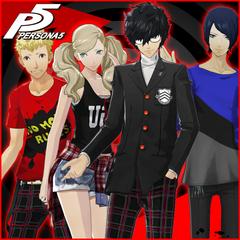 Persona 5 Regular Clothes & School Uniforms Set