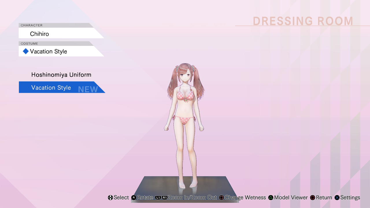 Blue Reflection: Vacation Style Set C (Lime, Fumio, Chihiro) 2017 pc game Img-4