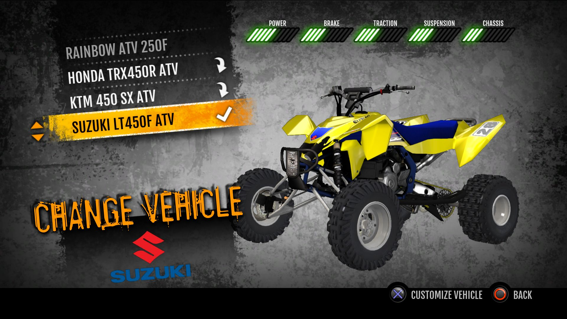 2011 suzuki lt r450 atv on ps4 official playstation store us. Black Bedroom Furniture Sets. Home Design Ideas