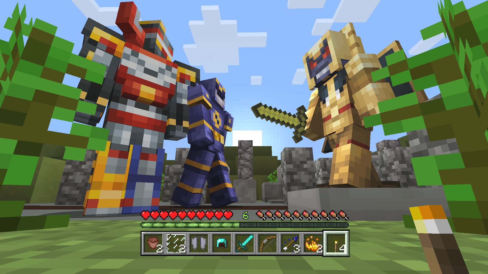 Minecraft power rangers skin pack on ps4 official for The game mind craft