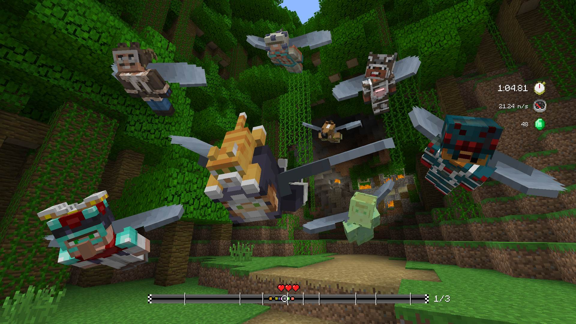 Minecraft Mini Game Heroes Skin Pack On PS Official PlayStation - Minecraft ps4 minispiele