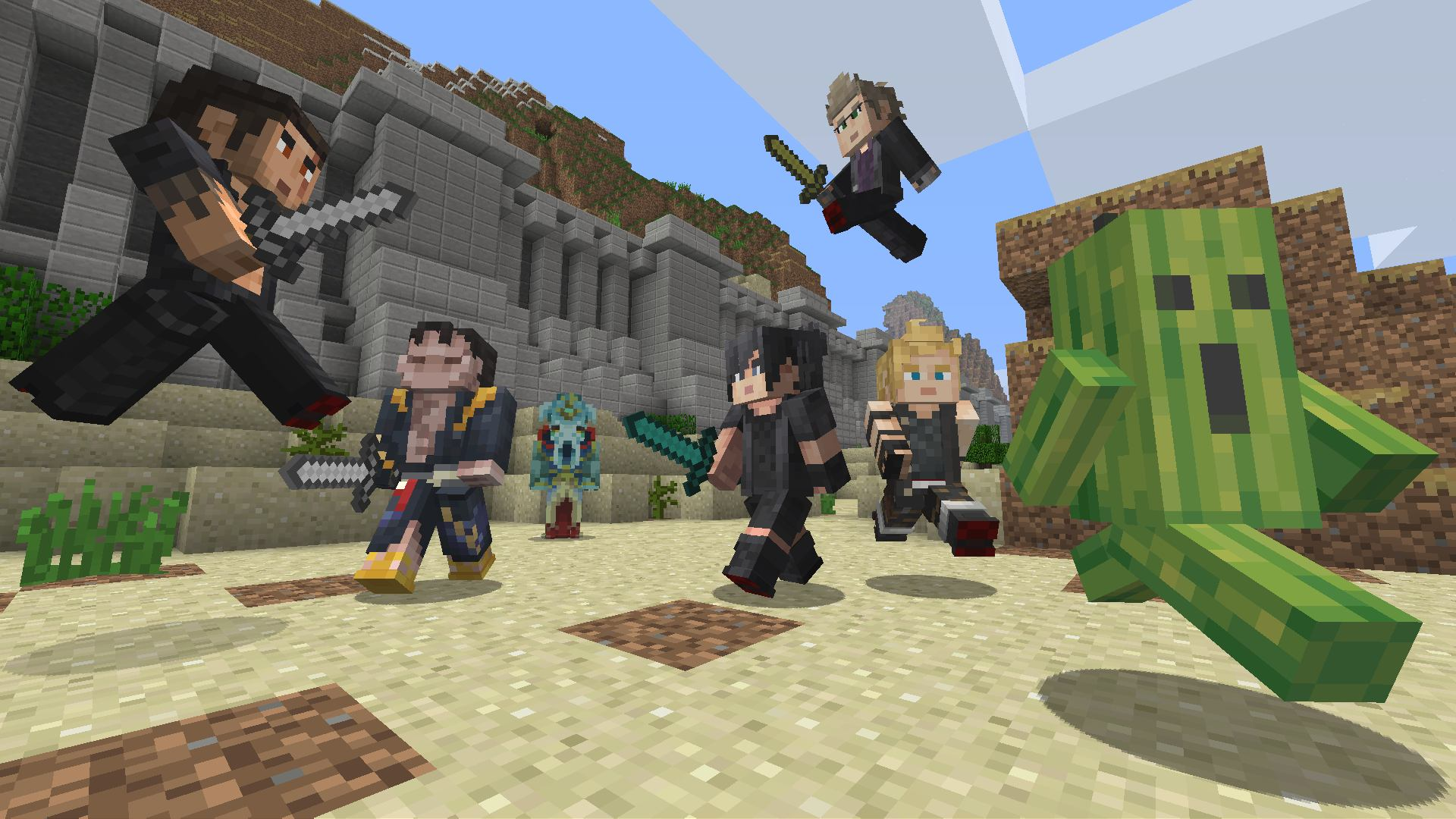 Minecraft FINAL FANTASY XV Skin Pack On PS Official PlayStation - Skins para minecraft pc demo