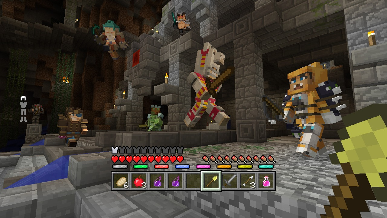 Minecraft Mini Game Heroes Skin Pack On PS Official PlayStation - Skin para minecraft pc gamer demo