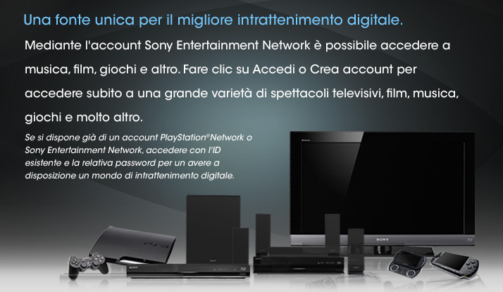 Accedi: Sony Entertainment Network